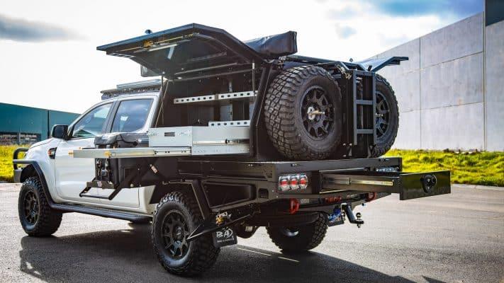 aluminium ute canopy ford ranger m-spec