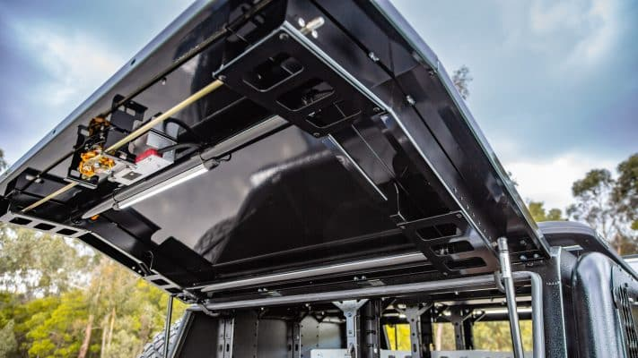 aluminium ute canopy heavy duty design with reinforced doors