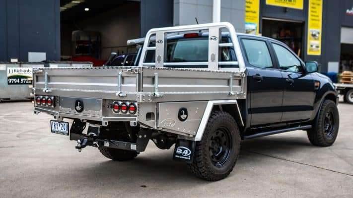 M-spec tray on a ford ranger