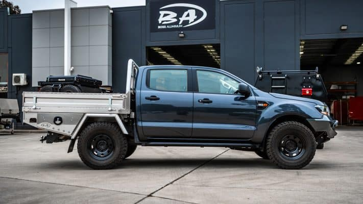 boss aluminium tray on a ford ranger