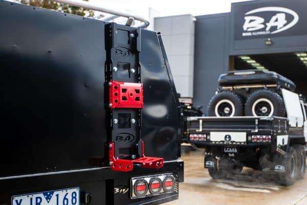 Heavy Duty Spare wheel carrier for full alloy canopy