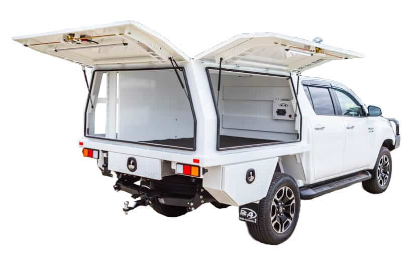Toyota hilux service body white